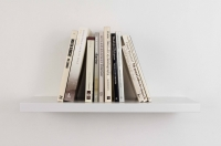 <em>Eleven books (I love you two)</em>, 2009<br> Eleven books, mdf bookshelf, 50 × 17.5 × 24 cm/19.7 × 6.9 × 9.4 inches